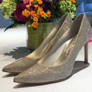 Stuart Weitzman Sparkle Glitter Pump Size 6.5